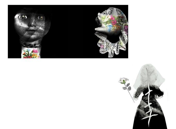 Accarezzami-Anno 2007 particolare 2(instalazione digital photo calzature in carta)