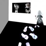 Accarezzami-Anno 2007 particolare 3 (instalazione digital photo calzature in carta)